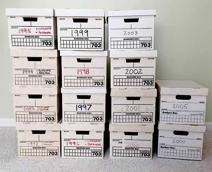 banker file boxes